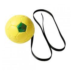 Trainingsball mit Handschlaufe, aufgepumpt mit Seil, 180mm