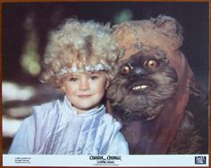Caravan Of Courage: An Ewok Adventure Lobby Card 3: 1984, 20th Century Fox, Complete Set of #1 - 8 cards; Condition NM, size 11 x 14 inches, stars Warwick Davis, Eric Walker, Fionnula Flanagan, Guy Boyd, Aubree Miller, and Burl Ives as the Narrator. Directed by John Korty. George Lucas wrote the story for this ABC-TV movie that also saw some theatrical release around the world. All 8 for $200