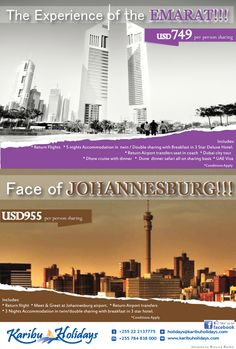 Dubai and South Africa holiday offer.