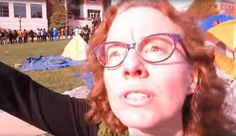 """Protesters at the University of Missouri blocked journalists from a campus quad. One faculty member demanded a reporter leave, yelling, """"I need some muscle over here."""""""