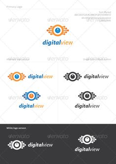 Digital View - Logo Design Template Vector #logotype Download it here: http://graphicriver.net/item/digital-view/1049274?s_rank=1200?ref=nexion