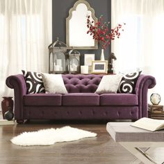 Stylist's Tip: There's a reason the Chesterfield is such a style icon, and this chic sofa is no exception to the rule. Its rolled arms invite lounging with a...