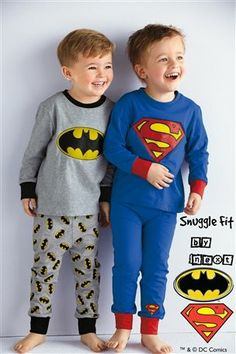 Buy Batman® And Superman® Snuggle Two Pack from the Next UK online shop John Boy, Textiles, Boys Underwear, Long Johns, Batman Vs Superman, Kids Pajamas, Snuggles, Dc Comics, Graphic Sweatshirt