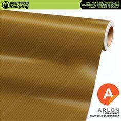 ARLON ARMY GOLD CARBON FIBER Restyling Vinyl Vehicle Car Wrap Film 2300LX-504CF