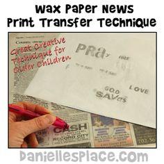 Wax Paper Bible Craft from www.daniellesplace.com