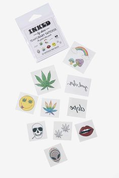 The Good Vibes Pack Temporary Tattoos | NYLON SHOP