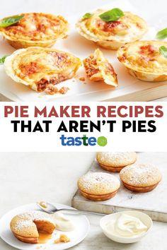Savory Muffins, Savory Tart, Pie Dessert, Dessert Recipes, Desserts, Breville Pie Maker, Healthy Veg Recipes, Taste Recipe, Just Pies