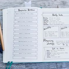 In the middle of my daily blog planning pages, I stuck in this collection to keep track of my business routine and tasks. I find that when I can just work my way through, things don't get missed! Watch the video, link is in the bio!⠀ | bullet journal | bullet journaling | journaling | bujo | bujo junkies | bullet journal junkies | planner | organize | bujo junkie | planning |