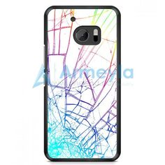 Damaged Rupture Cracked Out White HTC One M10 Case | armeyla.com