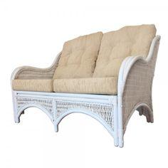 Rattan Wicker Lounge Loveseat/Sofa Karmen Color White Wash w/Cushions Rattan Loveseat, Wicker Sofa, Rattan Furniture, Natural Furniture, Furniture Making, Love Seat, Relax, Cushions, Lounge