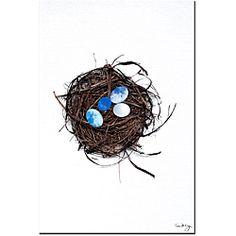 @Overstock - Kathie McCurdy 'Best Nest' Canvas Art - Artist: Kathie McCurdyTitle: Best NestProduct type: Canvas Art    http://www.overstock.com/Home-Garden/Kathie-McCurdy-Best-Nest-Canvas-Art/5171303/product.html?CID=214117  $42.29