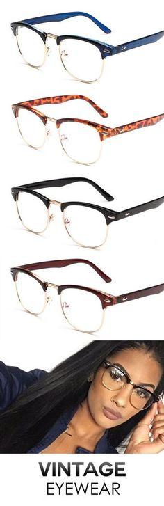 Vintage Inspired Classic Half Frame Glasses