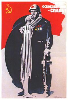 Manifesto patriottico sovietico.
