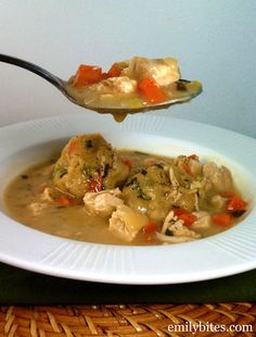 Emily Bites - Weight Watchers Friendly Recipes: Herbed Chicken & Dumplings