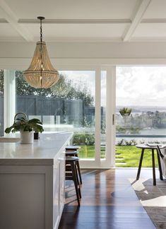 It's home number six - and this one's the grand finale Leadlight Windows, New Zealand Houses, Knock On The Door, Wicker Chairs, Cool Kitchens, Ikea Kitchens, Room Wallpaper, Formal Living Rooms, House Numbers