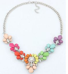 3 Colors Crystal Statement Necklace Choker necklaces