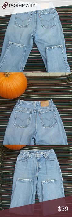 "Vintage Levi's 550 10 m high waisted mom jeans 30"" waist, 11 1/2 "" high waisted  rise, 28"" inseam,  100 % cotton, red tab Levi's Jeans"