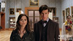 Day of the Doctor: note the scarf on the lady in the back!