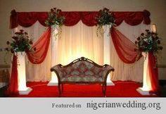 Nigerian wedding stage decoration Ideas 1