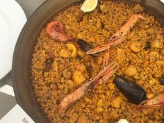Seafood Paella at El Chamizo Seafood Paella, Moraira, Rice Dishes, Valencia, Catering, Beef, Ethnic Recipes, Meat, Catering Business