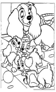 Happy Mother Lady coloring page from Lady and the Tramp category. Select from 31983 printable crafts of cartoons, nature, animals, Bible and many more. Horse Coloring Pages, Dog Coloring Page, Disney Coloring Pages, Free Printable Coloring Pages, Colouring Pages, Coloring Pages For Kids, Coloring Books, Colouring Sheets, Disney Sketches