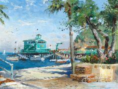 Catalina, Rosie's On The Pier by Thomas Kinkade  December 1998