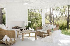 Three Birds Renovations - Bonnie's Dream Home - Covered Alfresco Outdoor Rooms, Outdoor Living, Outdoor Furniture Sets, Outdoor Decor, Outdoor Sofa, Design Room, Interior Design, Interior Styling, Porches
