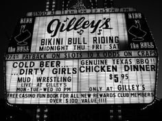 ۞ Gilley's was a bar/honky tonk founded in 1971 by country singer Mickey Gilley in Pasadena, Texas. It was the central location in the 1980 movie Urban Cowboy. It was a huge building with a corrugated steel roof that housed multiple bars and mechanical bulls. Connected to the club was a small rodeo arena that would also host both bicycle and motorcycle motocross races on Friday and Saturday nights. Gilley's ceased operations after a falling-out between Gilley and Cryer.