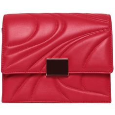 Emilio Pucci Embossed leather clutch ($1,662) ❤ liked on Polyvore featuring bags, handbags, clutches, red, red purse, real leather handbags, 100 leather handbags, leather clutches and red leather handbags