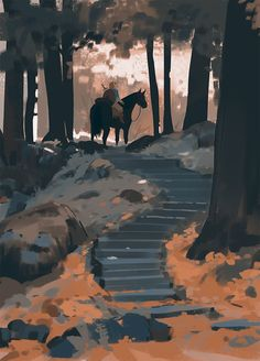 On The Crossroads Of Souls: Dreamy Painting Of A Realistic Environment Concepts By Atey Ghailan illustrations illustration art art illustration paintings artwork art art art illustration Concept Art Landscape, Fantasy Landscape, Landscape Art, Breath Of The Wild, Galaxy Saga, Star Citizen, Art Environnemental, Illustrator, Art Disney