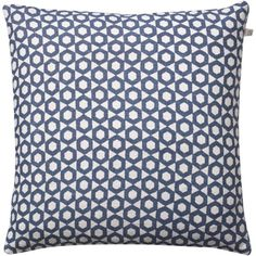 The Haveli Blue Linen Cushion is designed in Sweden and merges traditional techniques with a contemporary aesthetic - Trouva.com