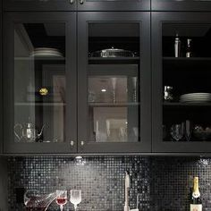 ... Black Pantry Cabinet With Kitchen On Pinterest Butler Pantry, Black  Butler And Pantry Cabinets With