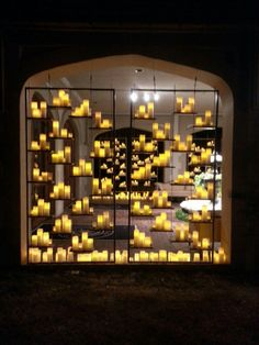 Candle Wall... Simple elegance for your #wedding #candles #decor