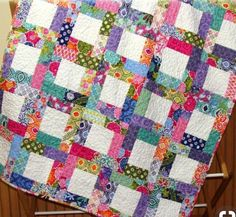 Great way to use scraps of fabric.