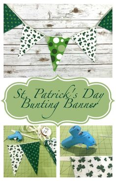 East St. Patricks Day bunting banner tutorial