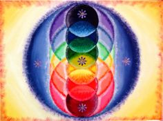 Rainbow Mandala - by Kat Day