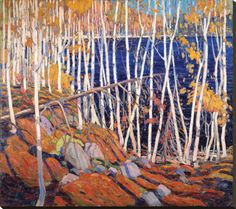 I have always been a great fan of the paintings of Canada's Tom Thomson and the Group of Seven. This painting, In the Northland , is by Tom . Emily Carr, Group Of Seven Art, Group Of Seven Paintings, Canadian Painters, Canadian Artists, Landscape Art, Landscape Paintings, Canada Landscape, Oil Paintings