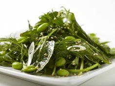Asian Green Salad with Edamame and Sesame-Soy Vinaigrette