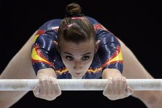 Flames! Flames on the side of my… forearms. | 41 Of The Best, Most Extravagant Leotards From The 2013 World Gymnastics Championships
