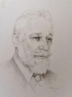 Ion C. Bratianu - portrait in graphite on cotton paper. Paper Artist, Art Studies, A3, Graphite, Colored Pencils, Graphic Art, Charcoal, Cotton, Painting