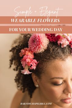 Wedding Trend: Learn how to incorporate beautiful wearable flowers into your wedding day. The Barn of Chapel Hill's latest blog post has 5 of the best ways to include this trend into your wedding day, everything from wearable bridesmaid's bouquets to florals for your pets. Check out the blog and be inspired to add wearable flowers to your celebration. Wedding Hair Flowers, Flowers In Hair, Wedding Bouquets, Wedding Trends, Wedding Tips, Wedding Styles, Flora Farms, Honeymoon Planning, Wedding Etiquette