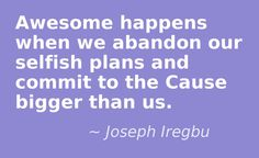 Finding Purpose in Release. This quote courtesy of @J_Iregbu http://josephiregbu.com/release