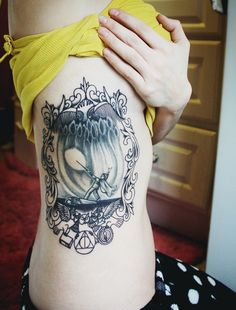Black & white Harry Potter tattoo. Absolutely love this. This is so well done!!!