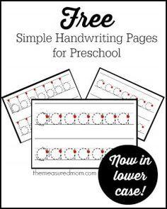 Free printable handwriting worksheets for preschool kindergarten simple handwriting pages for preschool now in lowercase ibookread Download