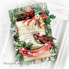 Decorate your Winter projects with warm and delightful designs from your favorite Graphic 45 Christmas collections. Beautiful Christmas Cards, Twelve Days Of Christmas, Cozy Christmas, Christmas Colors, Christmas Time, Christmas Crafts, Handmade Christmas Gifts, Handmade Gifts, Winter Project