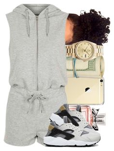 """""""Big Oh Chains """" by officialniyah ❤ liked on Polyvore featuring Rolex, Christian Dior, Topshop and NIKE"""