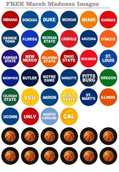 Bottle Cap Co | March Madness Free Bottle Cap Images
