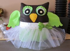 owl pillowtutuowl pillow with tutubright by shucksandshadoodles, $25.00 ~ would like to see if I can make my own.