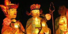 Estátuas de Buda em comemoração, na Coréia do Sul