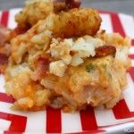 Crock-Pot Cheesy Chicken Ranch Tater Tot Casserole – Are you looking for a kid friendly recipe? Look no further! This recipe for Crock-Pot Cheesy Chicken Ranch Tater Tot Casserole will knock their socks off! [recipe from CrockPotLadies.com]